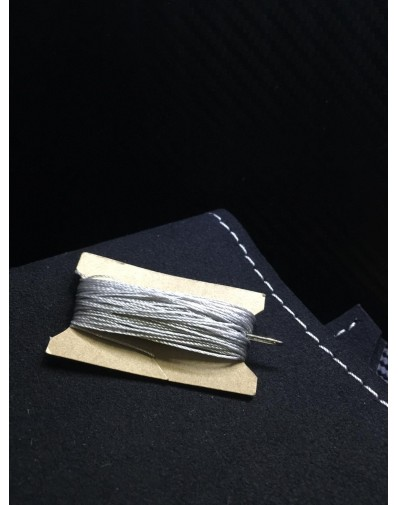 Kit funda volante para Bmw en cuero alcantara con costuras en color gris