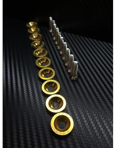 Juego tornillos M6 y arandelas aluminio anodizado