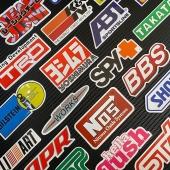 Juego de #pegatinas 🏁 🧩100 unidades . . . #pegatinascoche #pegatinaspersonalizadas #pegatina #vinilo #vinilosdecorativos #vinilos #vinilospersonalizados #coches #takata #spy #bbs #shoei #sti #nos #apr #bilstein #trd #abt #ralliart #hellaflush #teamjdm #racing #turbo #stickers #decals #impresion