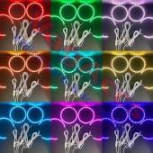 Ojos De Angel LED RGB   🔴 🟠 🟡  🟢 🔵 🟣 . . . #led #rgb #ledrgb #lucesled #lucesledrgb #ledlights #rgbled #ojosdeangel #angeleyes #ledangeleyes #custom #customlights #focos #lupa #retrofitheadlights #cars #headlights #retro #vagaccs #accesorios #stance #tuning #coches #racecar #malaga #colors #recambios